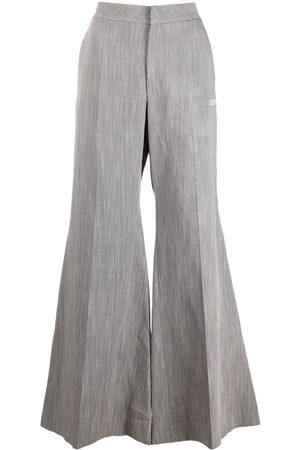 OFF-WHITE Tie-detail draped wide-leg trousers