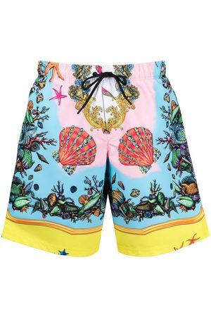 VERSACE Men Swim Shorts - Trésor de la Mer-print swim shorts