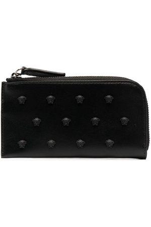 VERSACE Medusa-stud leather wallet