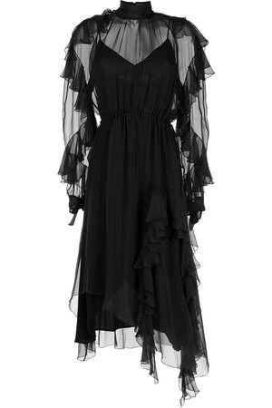 Nº21 Women Asymmetrical Dresses - Ruffled asymmetric dress