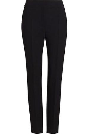 Oscar de la Renta Double-Face Skinny Trousers