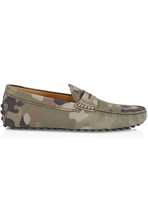 Tod's Camouflage Moccasin Loafers