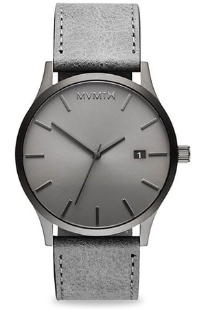 MVMT Men Watches - Classic Monochrome Stainless Steel & Leather-Strap Watch