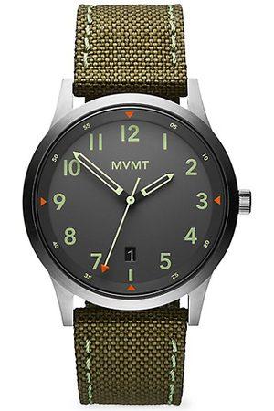 MVMT Field AT Stainless Steel & Canvas-Strap Watch