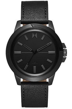 MVMT Minimal Sport Caspian Stainless Steel & Leather-Strap Watch