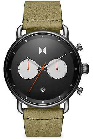 MVMT Blacktop Stainless Steel & Leather-Strap Chronograph Watch