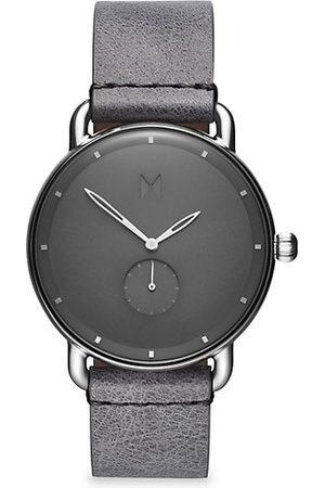 MVMT Men Watches - Revolver Gotham Stainless Steel & Leather-Strap Watch