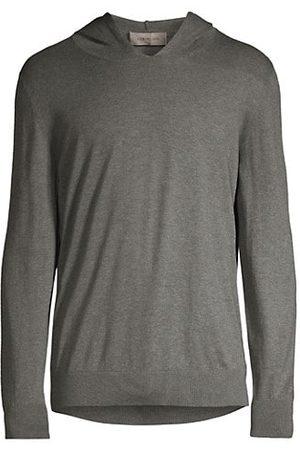corneliani Men Jumpers - Sleek Simple Cashmere-Cotton Hoodie