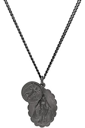 MIANSAI Mini Saints Matte Rhodium Pendant Necklace