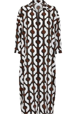 Max Mara Malesia printed silk midi dress