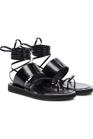 PARIS TEXAS Brooklyn leather thong sandals