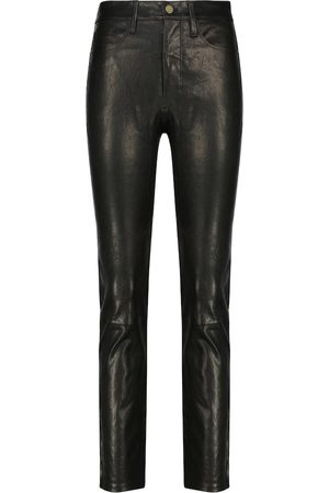 Frame Le Sylvie high-rise leather pants