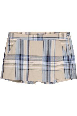 Il gufo Girls Skorts - Checked cotton-blend skort