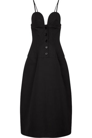 Jil Sander Women Midi Dresses - Cotton poplin midi dress