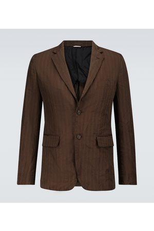 COMME DES GARÇONS HOMME DEUX Men Blazers - Single-breasted pinstriped blazer