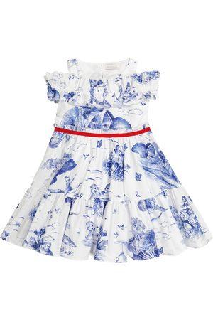 MONNALISA X Disney® printed cotton dress