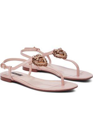Dolce & Gabbana Devotion leather sandals