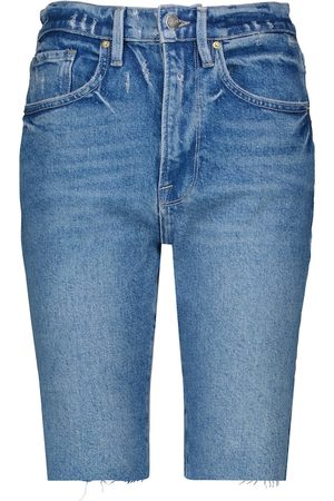 Frame Le Vintage high-rise denim shorts