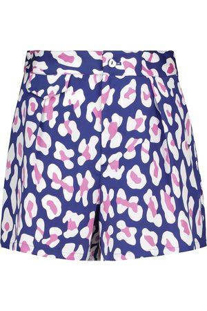 Diane von Furstenberg Edria animal-print high-rise shorts