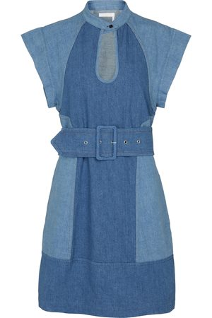 Chloé Belted denim minidress