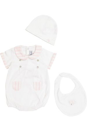 Tartine Et Chocolat Baby cotton bodysuit, hat and bib set