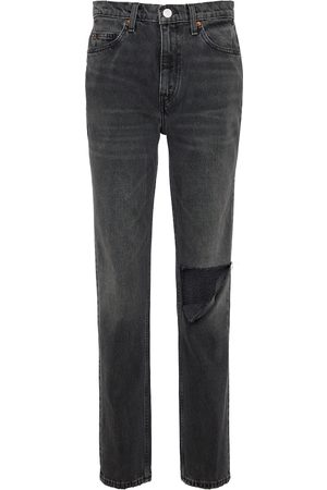RE/DONE 70s distressed mid-rise slim jeans