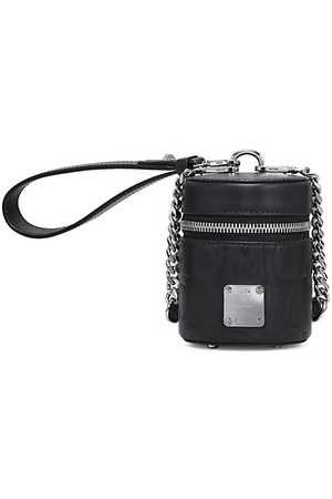 MCM Women Handbags - Extra-Mini Cylinder Monogram Leather Crossbody Bag