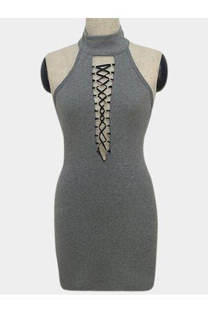 YOINS Sexy Bodycon Halter Dress