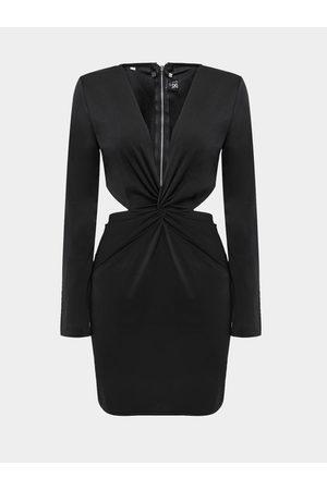 YOINS Women Bodycon Dresses - Plunge Neck Dress with Cut Out Details