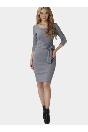 YOINS Thread Round Neck Lace-up Design Party Dress