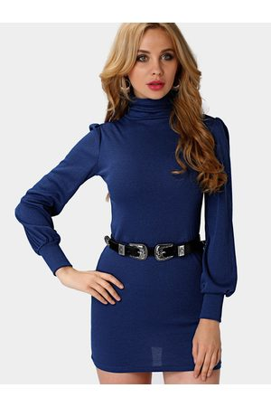 YOINS Women Bodycon Dresses - Poll Neck Bodycon Dress in