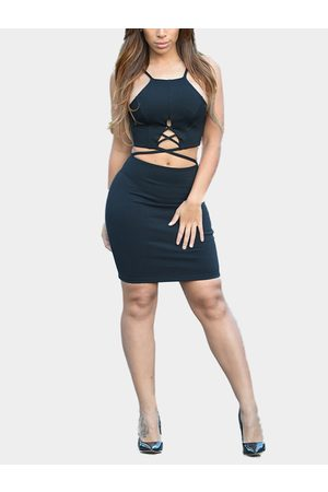 YOINS Women Bodycon Dresses - Strappy Cut Out Bodycon Dress in