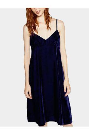 YOINS Women Camisoles - Sexy Sleevesless Velvet Vest Dress
