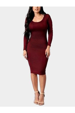 YOINS Women Bodycon Dresses - Sexy Backless Bodycon Dress with Cross Strap Design