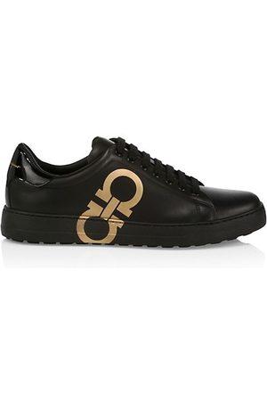 Salvatore Ferragamo Number Leather Sneakers