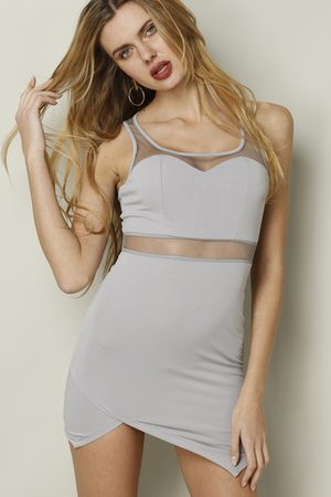 YOINS Sleeveless Hollow Out Mini Dress with Scoop Neck