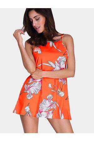 YOINS Fashion Sleeveless Mini Dress In Random Floral Pattern