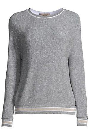 D.EXTERIOR Women Jumpers - Lurex-Knit Sweatshirt-Style Sweater