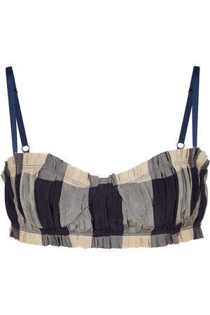 Khaite The Indira checked bra