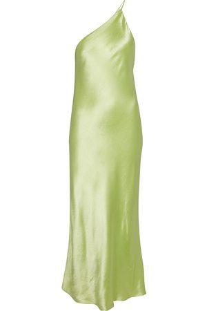 DODO BAR OR One-shoulder satin maxi dress