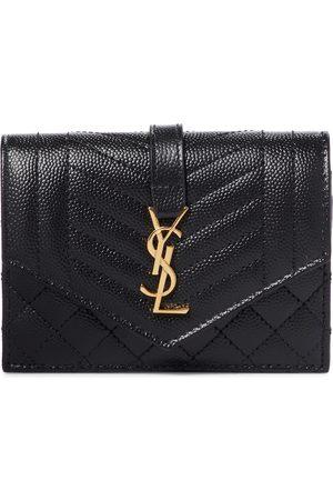 Saint Laurent Women Wallets - Monogram leather wallet
