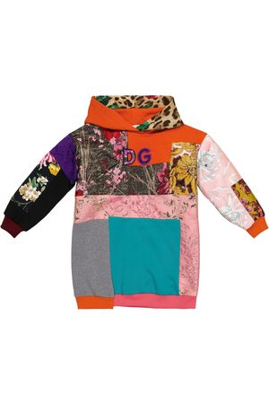 Dolce & Gabbana Patchwork sweatshirt dress