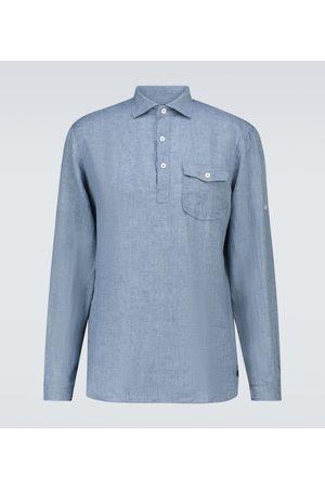 LARDINI Men Long sleeves - Long-sleeved linen shirt