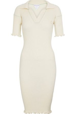 Bottega Veneta Women Knitted Dresses - Ribbed-knit wool minidress