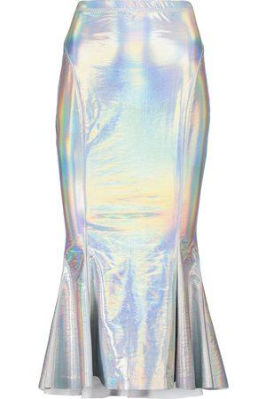 Norma Kamali Women Midi Skirts - Holographic jersey midi skirt