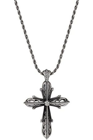 EMANUELE BICOCCHI Sterling Silver Cross Pendant Necklace