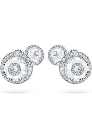 David Morris Women Earrings - 18kt gold diamond Rose Cut Forever Double Disc earrings