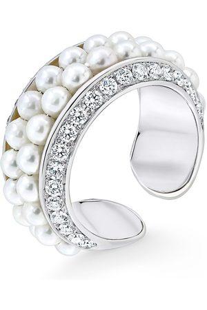 David Morris 18kt gold diamond Double Row ring
