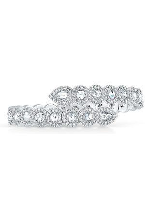 David Morris 18kt gold Rose Cut Diamond Flexi 2/3 set bangle