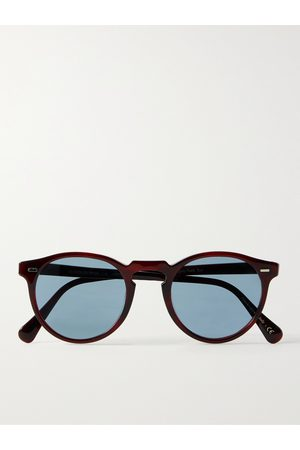OLIVER PEOPLES Men Sunglasses - Gregory Peck Round-Frame Acetate Sunglasses